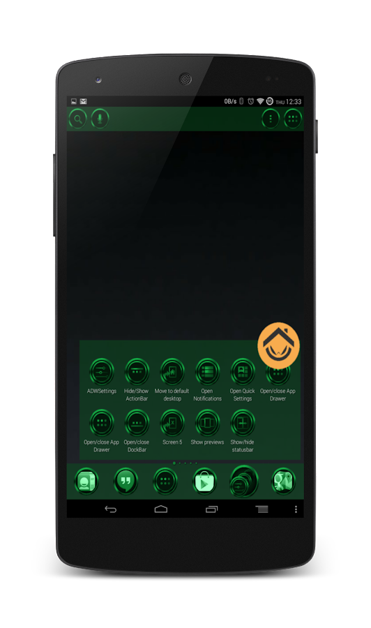 Chromed Emerald Launcher Theme - screenshot