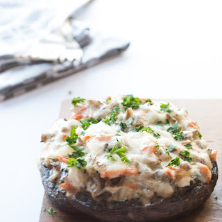 Wild Rice Casserole Stuffed Mushrooms