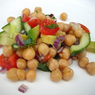 Chickpea & Tomato Salad.