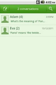 Easy SMS solid Green theme Screenshot 6