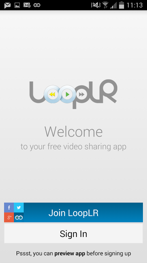 LoopLR Social Video Hub - screenshot
