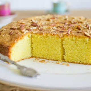 Sfoof - Vegan Lebanese Yellow Tea Cake.