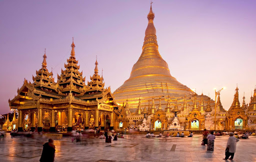 Shwedagon-Zedi-Daw-pagoda-Myanmar - The Great Dagon Pagoda or Golden Pagoda — officially the Shwedagon Zedi Daw — is a dazzling gilded pagoda and stupa 325 feet in height in Yangon, Myanmar. See it on a luxury river cruise aboard the AmaPura.