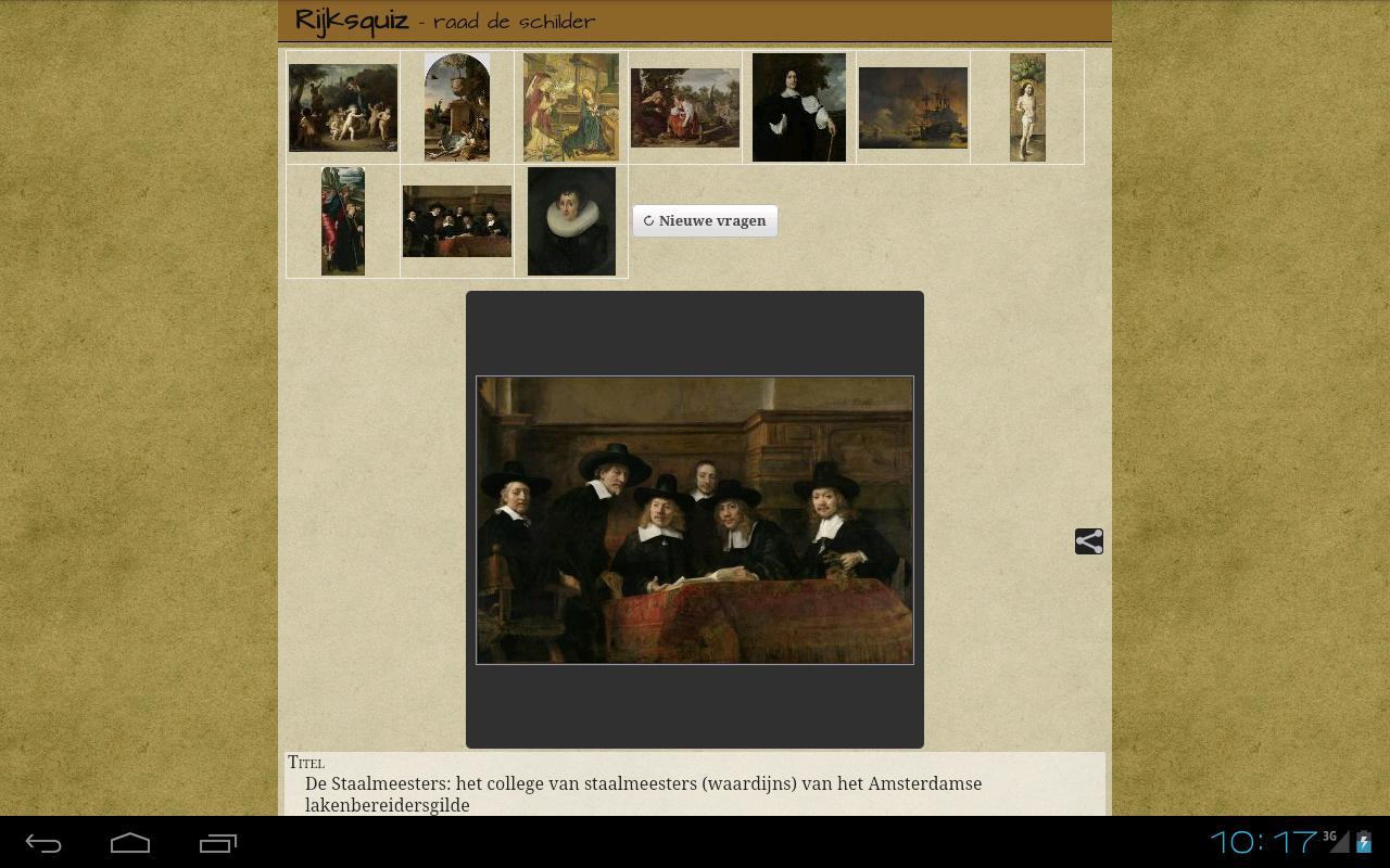 Rijksquiz voor tablets- screenshot