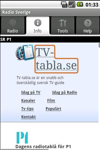 Radio Sverige (gratisapp)- screenshot
