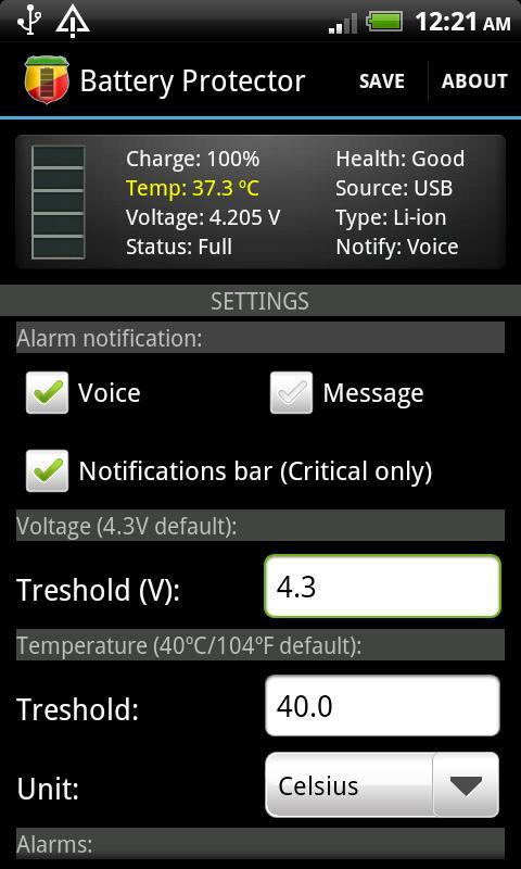 Battery Protector- screenshot