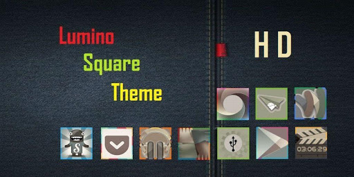 Lumino Square HD Icons