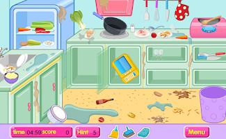 Screenshot of Kitchen restaurant cleanup