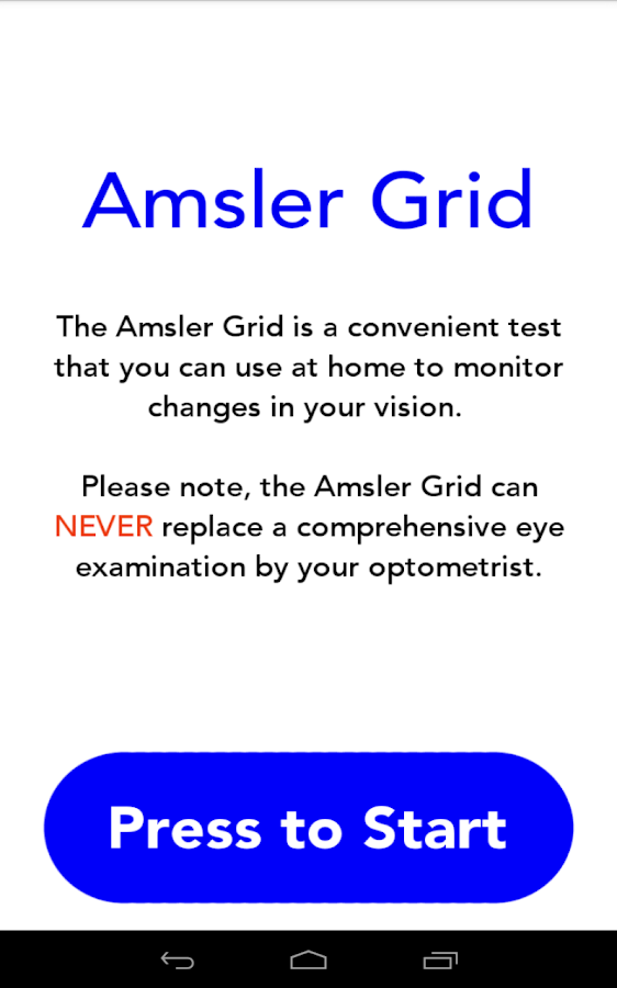 Amsler Grid - screenshot