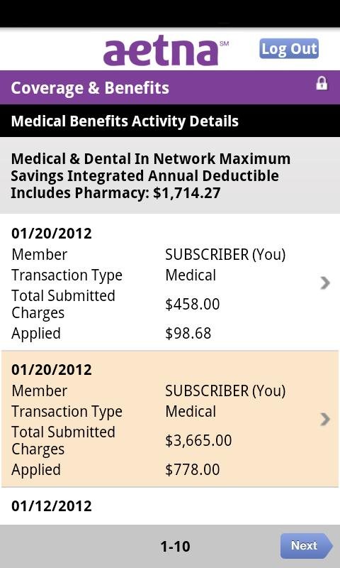 Aetna Mobile - screenshot