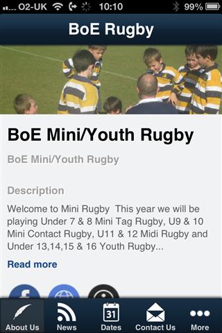 BoE Mini Youth Rugby