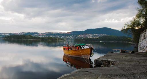 Boat in Skjoldbukta, Bergen, Norway