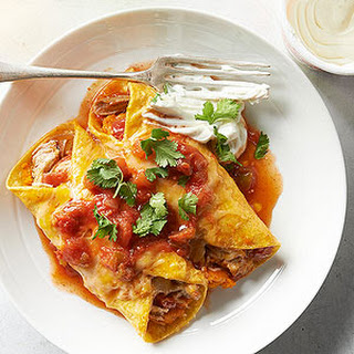 Pork and Squash Enchiladas