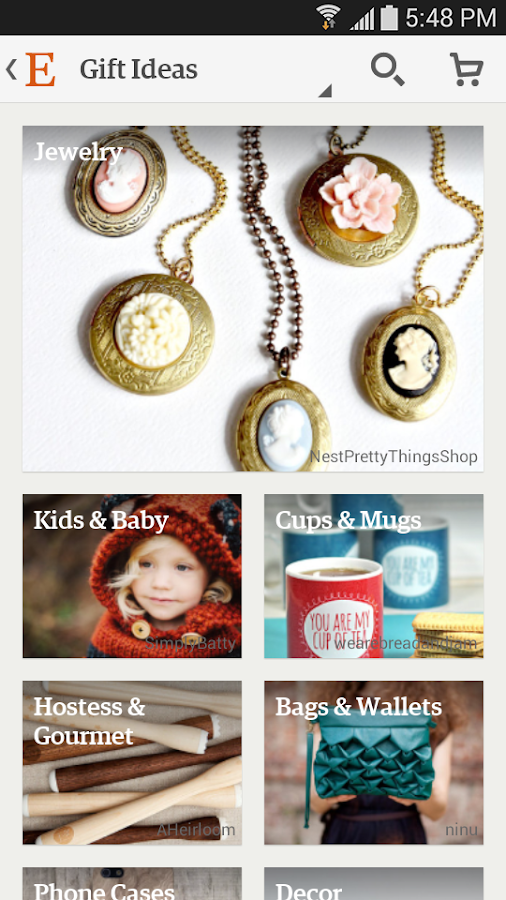 Etsy - screenshot
