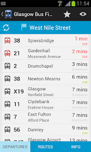 Glasgow Bus Finder- screenshot thumbnail