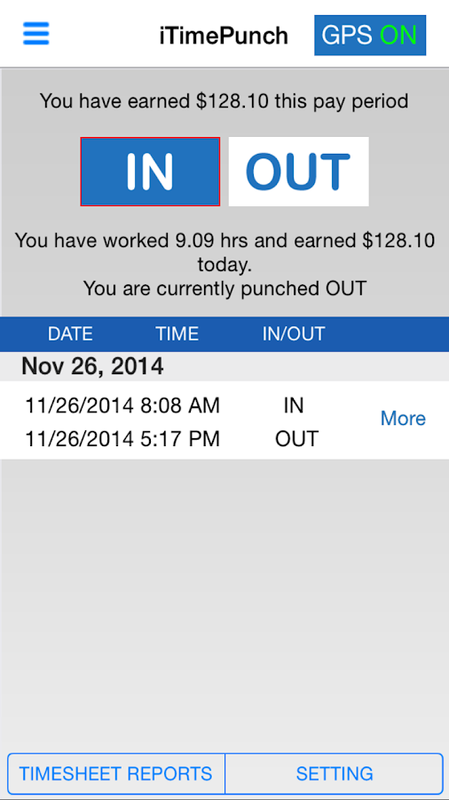 iTimePunch - Work Time Clock- screenshot