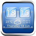 Glass Weather Clock Widget icon