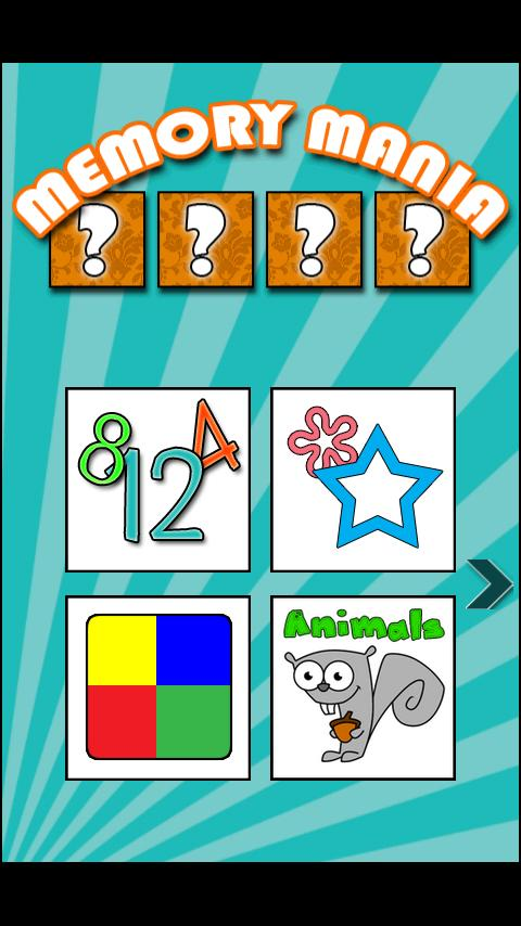 Kids Game: Memory Mania lite - screenshot
