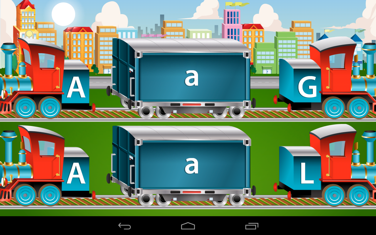 Kids ABC Trains Game - screenshot