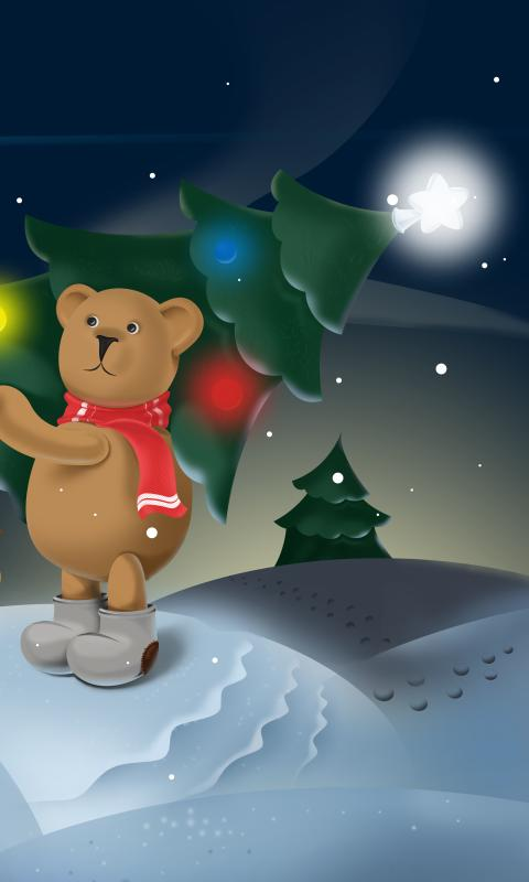 Snowy bears Live Wallpaper HD- screenshot