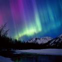 3D Aurora Northern Lights logo