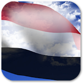 3D Yemen Flag Live Wallpaper +