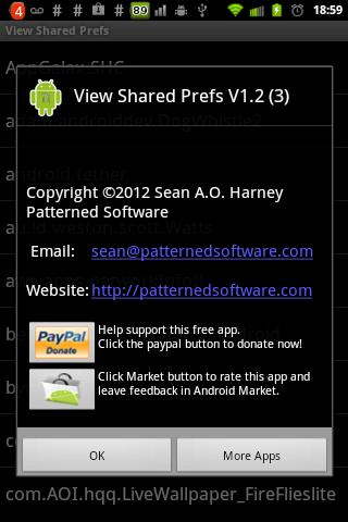 View Shared Prefs - screenshot
