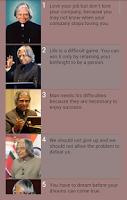Screenshot of Quotes of A.P.J Abdul Kalam