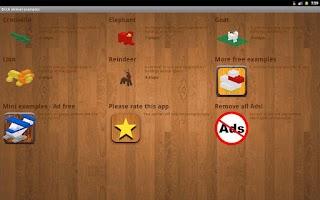 Screenshot of Brick animal examples