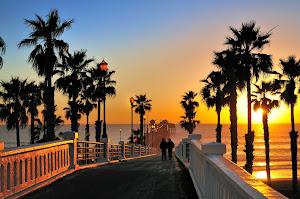 Oceanside Pier near San Diego, California.