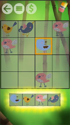 赤ちゃん数独 - シンプルなパズル