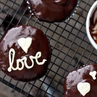 Chocolate Valentine's Cupcakes.