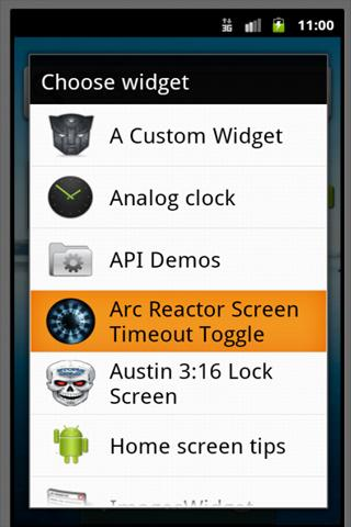 Arc Reactor Screen Timeout- screenshot