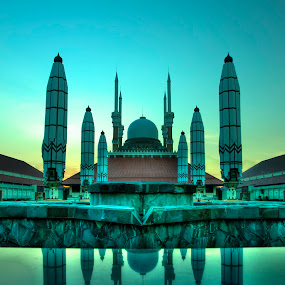 Agung Mosque, Semarang, Indonesia by San Djo - Buildings & Architecture Places of Worship ( sandjo, mosque, indonesia, semarang )