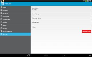 Screenshot of ViZi Budget