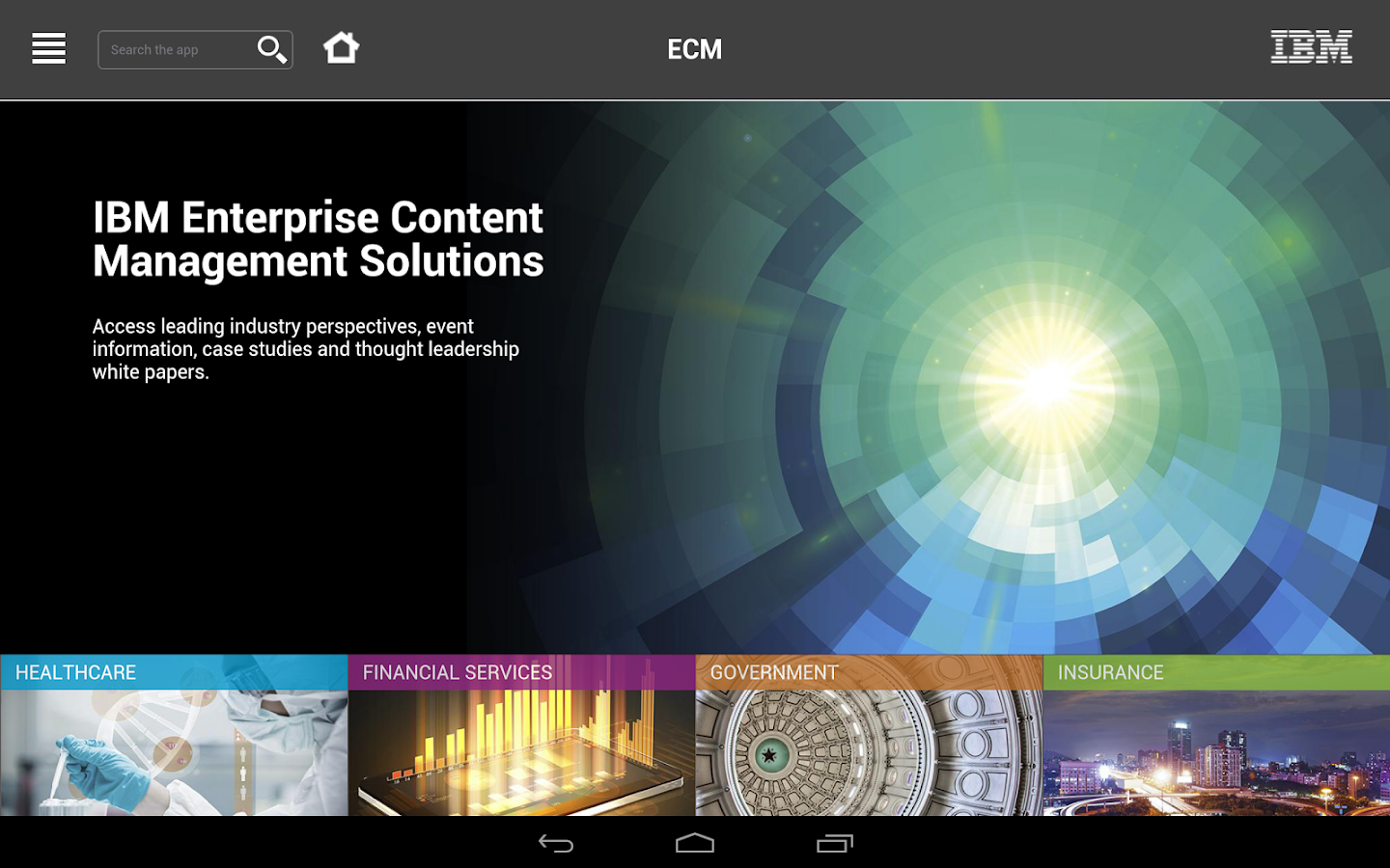 IBM Content Zone - screenshot