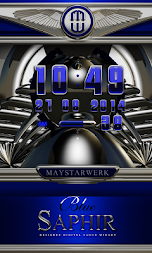 Digi Clock Widget Blue Saphir APK screenshot thumbnail 1