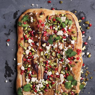 Eggplant, Pistachio, and Pomegranate Pizza
