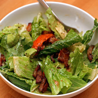 Bacon, Lettuce, and Tomato Salad with Aioli Dressing.