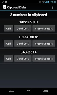 Clipboard Dialer- screenshot thumbnail