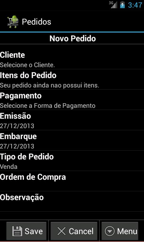CriareSales - Força de Venda - screenshot