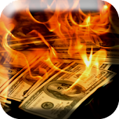Dollars in Fire Live Wallpaper