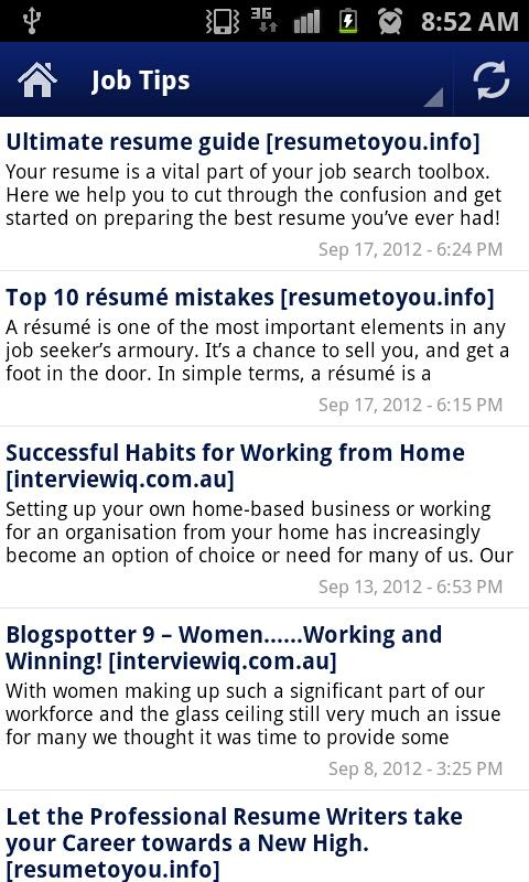 Australian Job Search - screenshot