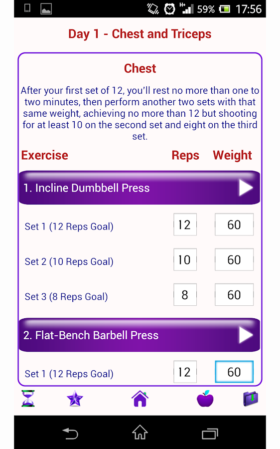 Bodybuilding Exercises Chart Free Download Images & Pictures - Becuo