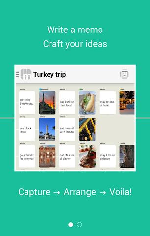 Screenshots for Ideas organizer note memosaic
