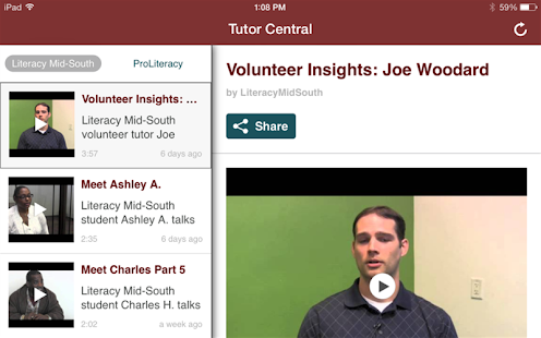 Literacy Mid-South- screenshot thumbnail