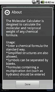 Molecular Calculator- screenshot thumbnail