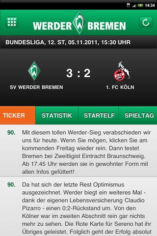 SV Werder Bremen - screenshot