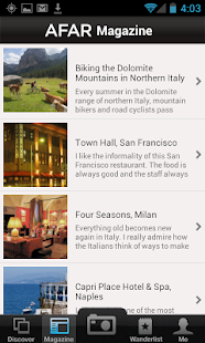 AFAR Mobile App- screenshot thumbnail
