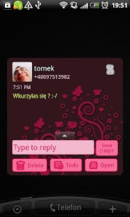 GO SMS Pro Emo Skull Theme - screenshot thumbnail